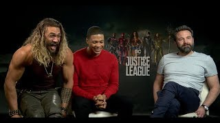 Download Ben Affleck, Jason Momoa, & Ray Fisher Interview for ″Justice League″ Video