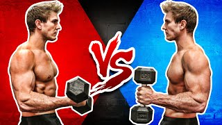 Download Dumbbell Bicep Curl VS. Hammer Curl (WHICH BUILDS BIGGER BICEPS?) Video