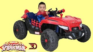 Download Dynacraft Ultimate Spiderman 12V Battery Powered Ride-On Car Dune Buggy Unboxing Park Playtime Ckn Video