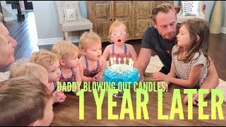 Download Reaction to Daddy Blowing out the Candles 1 Year Later Video
