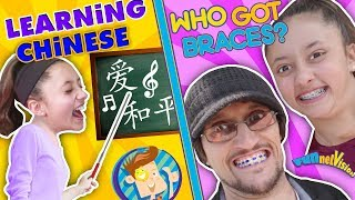 Download KIDS LEARNING CHINESE w/ FUNnel Vision + Who gets Braces Vlog? (Chinese Song & Handshake) Video
