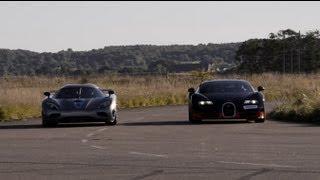 Download 1200 HP Bugatti Veyron Vitesse vs Koenigsegg Agera R x 4 races Video