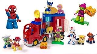 Download Paw Patrol Help Spiderman Duplo Lego Blocks Truck Adventure Video