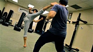 Download Group Martial Arts Fight Scene Practice Session Video
