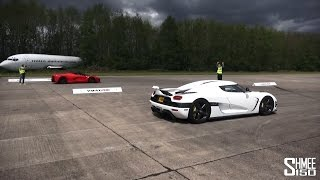Download DRAG RACE: LaFerrari vs Koenigsegg Agera - Vmax Hypermax Video