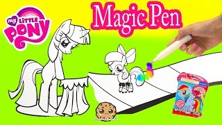 Download My Little Pony Imagine Ink Rainbow Color Pen Art Book with Surprise Pictures Cookieswirlc Video Video