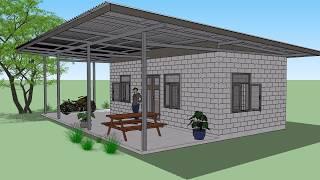 Download บ้านอิฐนาโน หลังคาเมทัลชีท ( No. 036 ) sKetchup by : i. pakdee Video