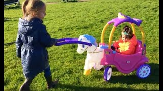 Download Princess Carriage Ride On / Fun Playground For Kids Video