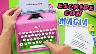 Download MAQUINA DE ESCRIBIR MAGICA - Escribe Mensajes de Amor con Magia | Manualidades aPasos Video