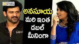 Download Prabhas Epic Punch to Anchor Anasuya Double Meaning Question : Rare Video - Filmyfocus Video