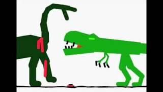 Download Stykz T-Rex Vs Sauropod Video