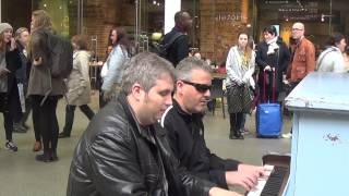 Download Two Dudes Boogie Woogie St Pancras Station Video