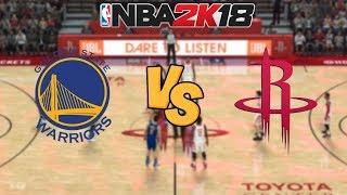 Download NBA 2K18 - Golden State Warriors vs. Houston Rockets - Full Gameplay Video