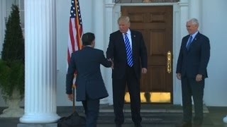 Download Trump meets Romney far from the tumult of New York Video