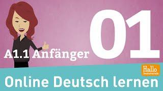 Download Online Deutsch lernen / A1.1 Anfänger / sich vorstellen / das Alphabet / die Zahlen / Aussprache Video