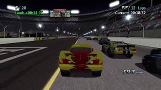 Download Sneak JR - Cars 1 the Videogame 360 -No Com- Lightning Mcqueen S4 VS Rookie Piston Cup Night Race Video
