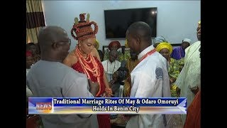 Download Traditional Marriage Rites Of May And Odaro Omoruyi Holds In Benin City Video