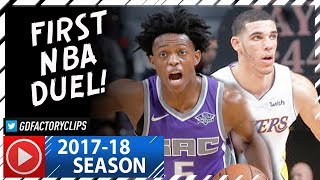 Download Lonzo Ball vs De'Aaron Fox First NBA Duel Highlights (2017.11.22) Lakers vs Kings - INTENSE! Video