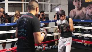 Download LEO SANTA CRUZ BEAST MODE MITTS WORKOUT FOR ABNER MARES REMATCH Video