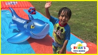 Download Water Slide for Kids Compilation! Inflatable water toys Kids playtime in the Pool Disney Cars Video