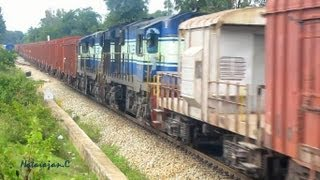 Download India's Longest Train : 84 Wagons and 4 KJM WDG3As Video