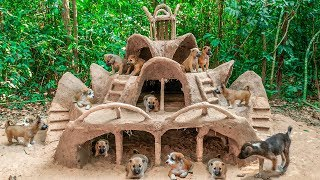 Download Build Most Amazing Villa Mud House For Collect abandoned Dogs Video