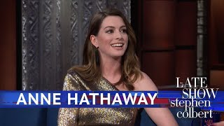 Download Anne Hathaway Rewatches Her First Commercial Video