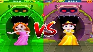 Download АНДЖЕЛА против ТОМА! МОЙ ГОВОРЯЩИЙ ТОМ БЕГ ЗА ЗОЛОТОМ мультик игра для детей Video
