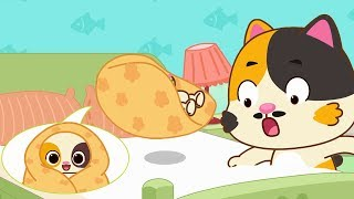 Download Baby Kitten Doesn't Want to Sleep | Baby Kitten's Hero Daddy | Kids Song | Bedtime Lullaby | BabyBus Video