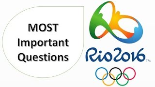 Download RIO Olympic 2016 | Most Important Questions for EXAMS Video