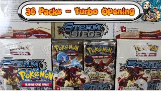 Download Turbo Opening: Steam Siege - All 36 packs! Pokemon TCG unboxing Video
