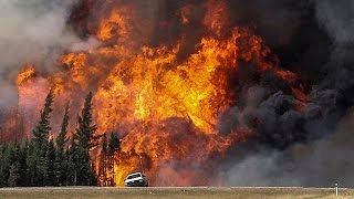 Download 'The Beast' wildfire burns out of control in Canada Video