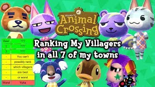 Download Ranking My Animal Crossing Villagers in all 7 of my towns Video