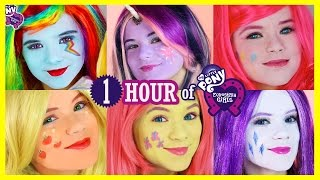 Download 1 HOUR MY LITTLE PONY MANE 6 MAKEUP TUTORIALS! Rainbow Dash Pinkie Pie Twilight Sparkles KITTIESMAMA Video