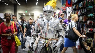 Download Adam Savage Incognito as King Arthur at Comic-Con 2017! Video