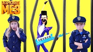 Download Universal Despicable Me 3 Gru vs Bratt with Kid Cops and Assistant Silly Funny YouTube Kids Video Video