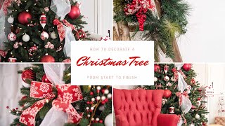 Download How to Decorate a Christmas Tree from Start to Finish|Decorate with Me Video