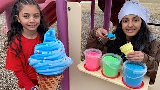 Download Hadil Pretend Play Selling SAND Ice Cream Toy Shop Video