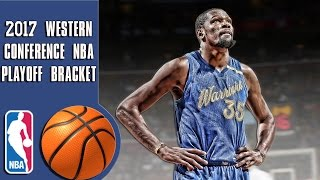 Download 2017 Western conference NBA playoff bracket/predictions Video
