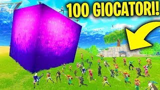Download 100 GIOCATORI hanno FERMATO il CUBO in FORTNITE BATTLE ROYALE? | Fortnite Esperimenti ITA Video