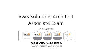 Download 2018 AWS Solutions Architect Associate | Official Practice Questions | Part 1 of 2 Video