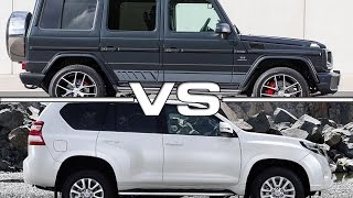 Download 2016 Mercedes Benz G500 offroad vs 2016 Toyota Land Cruiser Prado offroad Video