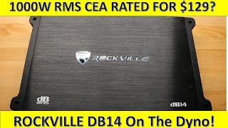 Download $129 For 1000W RMS CEA Rated!? Rockville DB14 on the Dyno! Video