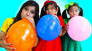 Download Emma & Jannie Pretend Play Fun Playtime with Magic Color Balloons Video