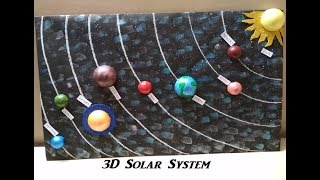 Download How to make 3D Solar System Model | 3D Model | Project for students Video