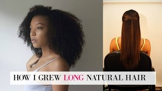 Download How to Grow LONG Natural Hair (MY SECRETS!) + Tips for Going Natural Video