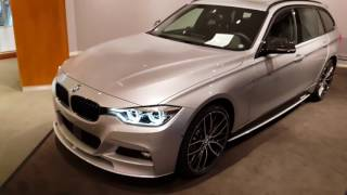 Download BMW 340i xDrive Touring M Performance with WHITE LED rearlights and roofspoiler Video