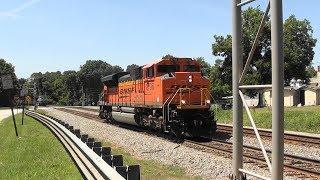 Download NS 735 Lead engine leaves its train in Stockbridge, Ga. Video