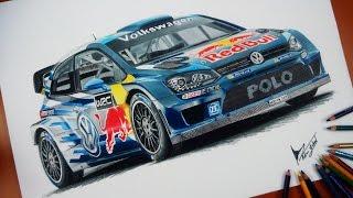 Download 18 Saat Süren Volkswagen Polo R WRC Çizimi Video