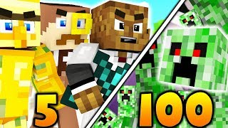 Download 5 VS 100 FAN BATTLE - MINECRAFT MONSTERS INDUSTRIES Video